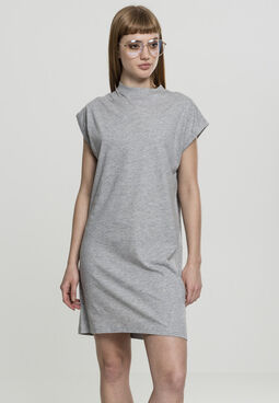 Urban classics Ladies Turtle Extended Shoulder Dress grey