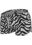 Urban classics Ladies Zebra Hotpants red/blk