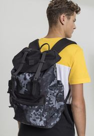 Urban classics Backpack With Multibags dark camo