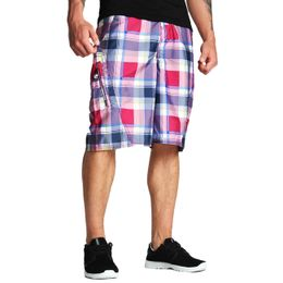 Ecko Unltd Plaid Boardshort Sangria Red