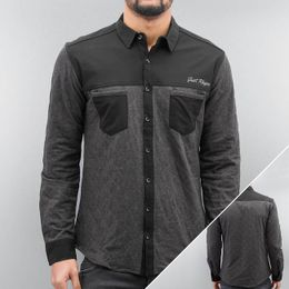 Just Rhyse Quilted Shirt Black