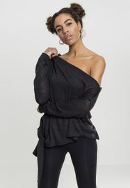 Urban classics Ladies Asymmetric Sweater black