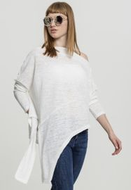 Urban classics Ladies Asymmetric Sweater white