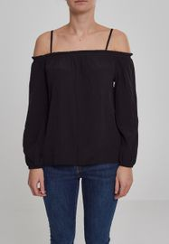 Urban classics Ladies Cold Shoulder Smoke Longsleeve black