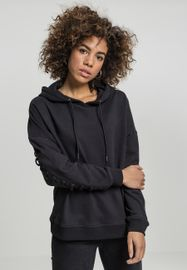 Urban classics Ladies Laced-Up Hoody black