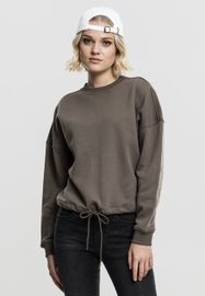 Urban classics Ladies Oversized Crew army green