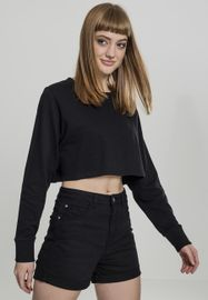 Urban classics Ladies Terry Cropped Crew black