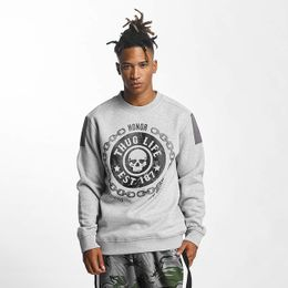 Thug Life / Pullover Barley in gray