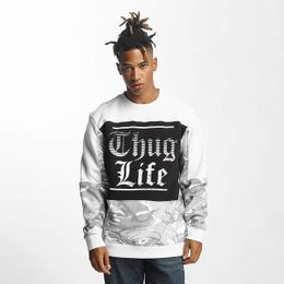 Thug Life / Pullover New Life in white