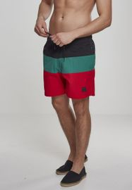 Urban Classics Color Block Swimshorts firered/black/green