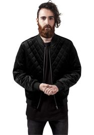 Urban Classics Diamond Quilt Velvet Jacket black