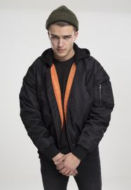 Urban Classics Hooded Oversized Bomber Jacket blk/blk