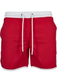 Urban Classics Retro Swimshorts firered/white