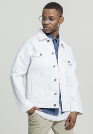 Urban Classics Ripped Denim Jacket white