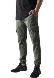 Urban Classics Washed Cargo Twill Jogging Pants olive