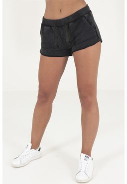 Urban classics Ladies Acid Wash Terry Hotpants darkgrey