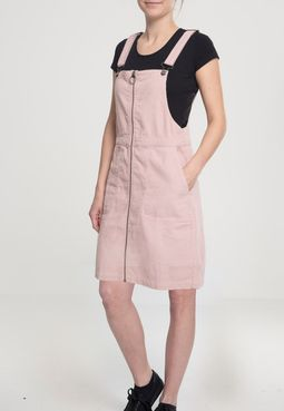 Urban Classics Ladies Corduroy Dungaree Dress rose