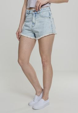 Urban classics Ladies Denim Hotpants blue bleached