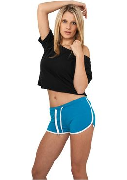 Urban classics Ladies French Terry Hotpants tur/wht