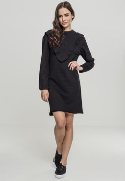 Urban classics Ladies Terry Volant Dress black